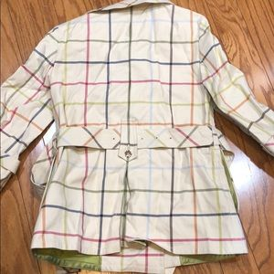 Coach Jackets & Coats - Coach Plaid raincoat with patent leather buckle